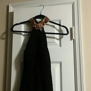 Black backless Sequin Dress